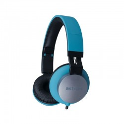 Fabric Cable Stereo Headset + Mic HS400 Blue Astrum