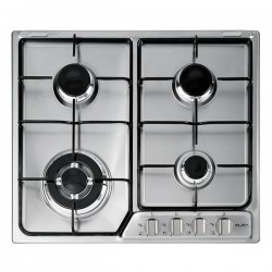 Elba EF60-440X Stainless Steel Gas Burner with Dishwashable Enamelled Pan Supports And Wok Stand