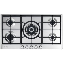 Elba ELIO 95-545 5 stainless steel gas burners with 1 Central Triple Ring Wok Burner